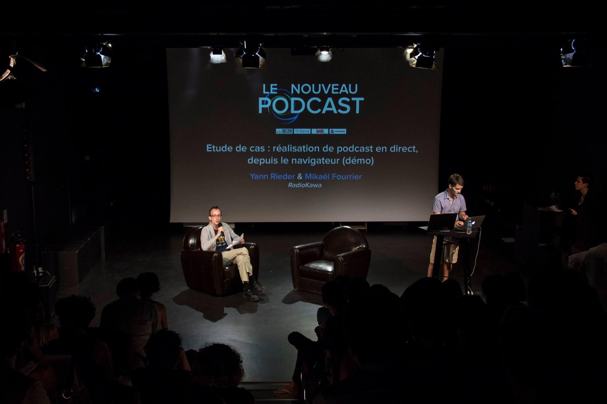 Podcast en direct : présentation de notre outil en développement